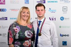 Construction metalwork gold medal winner Thomas Woodburn